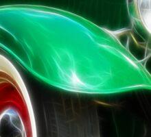 Green Hot Rod Sticker