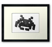 Invader in Space Framed Print