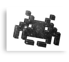Invader in Space Canvas Print