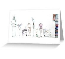 Robot Roll Call Greeting Card