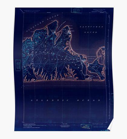Massachusetts  USGS Historical Topo Map MA Marthas Vineyard 352841 1894 62500 Inverted Poster