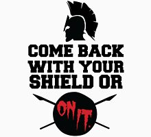 300 : Come Back With Your Shield Or On It Men's Baseball ¾ T-Shirt