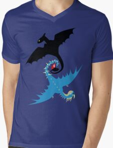 How to Train Your Dragon - Toothless and Stormfly Mens V-Neck T-Shirt