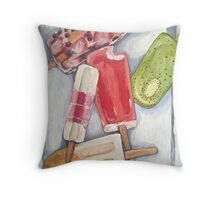 whimsical popsicle painting  Throw Pillow