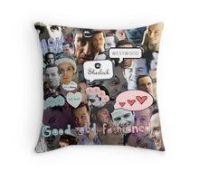 Moriarty (Collage) Throw Pillow