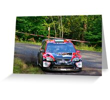 Ford, Rally of France 2010 Greeting Card
