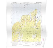 Massachusetts  USGS Historical Topo Map MA Vineyard Haven 351380 1972 25000 Poster