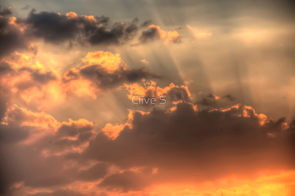 Fiery Sunset by Clive S