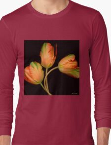Orange Tulips Long Sleeve T-Shirt