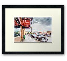 Downtown Cody Framed Print
