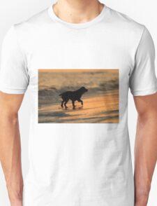 Sunset Dog Unisex T-Shirt