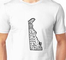 Hipster Delaware State Outline Zentangle Unisex T-Shirt