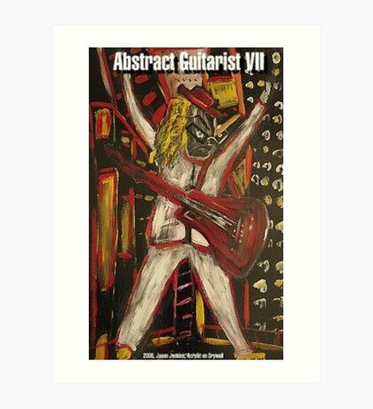 ABSTRACT GUITARIST VII Art Print