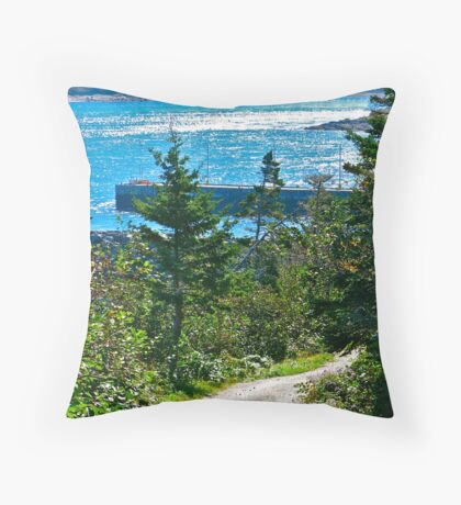 Petit Passage III from Long Island Throw Pillow