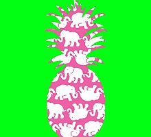 Lilly Pulitzer Inspired Pineapple Tusk in Sun (Pink) by mlr28blu