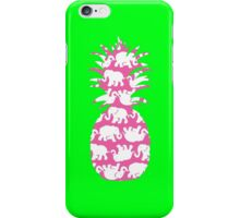 Lilly Pulitzer Inspired Pineapple Tusk in Sun (Pink) iPhone Case/Skin