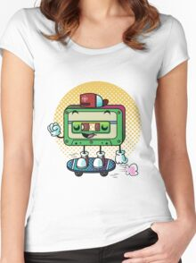 Cassette Love Women's Fitted Scoop T-Shirt