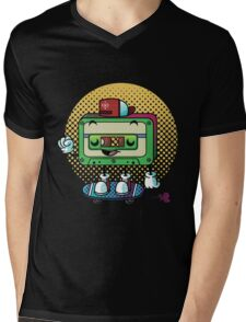 Cassette Love Mens V-Neck T-Shirt
