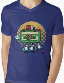 Cassette Love Mens V-Neck T-Shirt