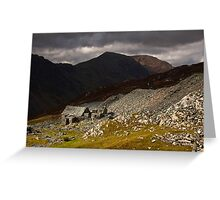 Brooding clouds over Dubs hut Greeting Card