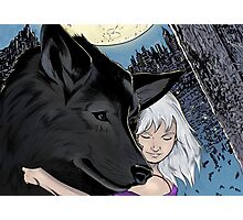 The girl with the wolf Photographic Print