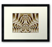 Waves of Bone Framed Print