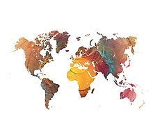 World Map fractal 1 Photographic Print