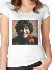 Fourth Doctor Women's Fitted Scoop T-Shirt