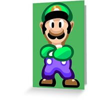 Luigi 16 Bit Greeting Card
