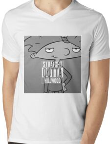 Hey Arnold! - Straight Outta Hillwood! Mens V-Neck T-Shirt