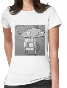 Hey Arnold! - Straight Outta Hillwood! Womens Fitted T-Shirt