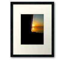Coach Sunset Framed Print