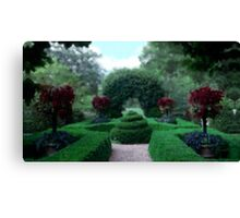 Formal Garden Impressionist Canvas Print