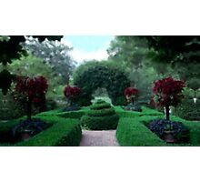 Formal Garden Impressionist Photographic Print