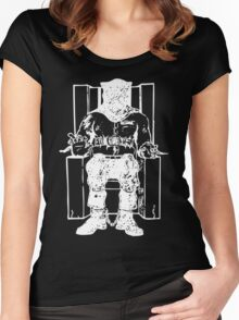 Death Row (White Chair) Women's Fitted Scoop T-Shirt
