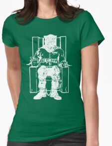 Death Row (White Chair) Womens Fitted T-Shirt