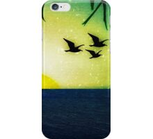Sunset with Birds and Palm Trees iPhone Case/Skin