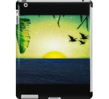 Sunset with Birds and Palm Trees iPad Case/Skin