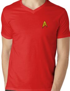 Star Trek Engineering Uniform Mens V-Neck T-Shirt