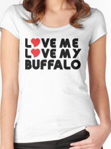 Love Me Love My Buffalo Women's Fitted Scoop T-Shirt