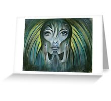 Day dreamer-blue mood Greeting Card