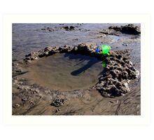 Forgotten at the beach Art Print