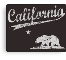 Sporty California Bear Canvas Print