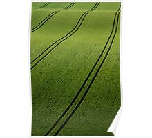 Rolling green countryside Poster