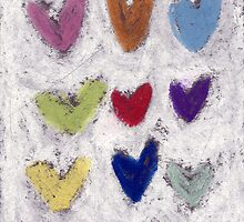 Happy Hearts No.5 by Tine  Wiggens