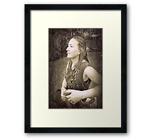 """Poised desolation - a hard but noble definition. "" Framed Print"
