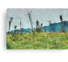 Grunge Style Nature Artwork Canvas Print