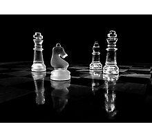 Black and white chess Photographic Print