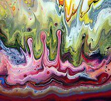 Fluid Splash Acrylic Painting by markchadwick
