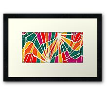 Multicolored Vibrations Framed Print